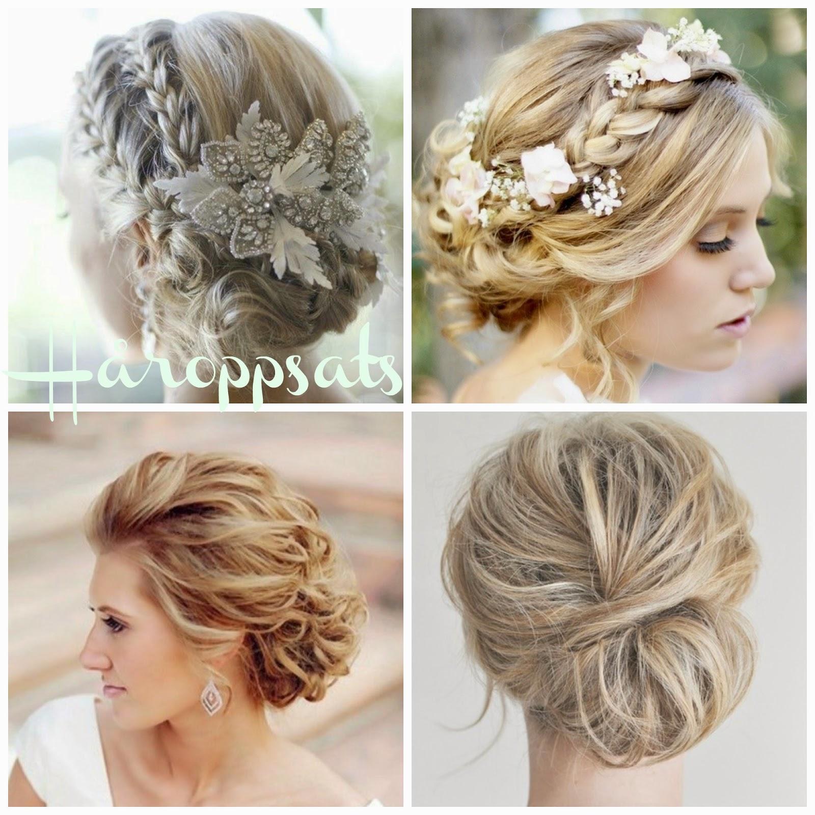blomster i håret bryllup