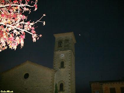 L'església de Sant Miquel de Balenyà a primeres hores del matí. Autor: Carlos Albacete