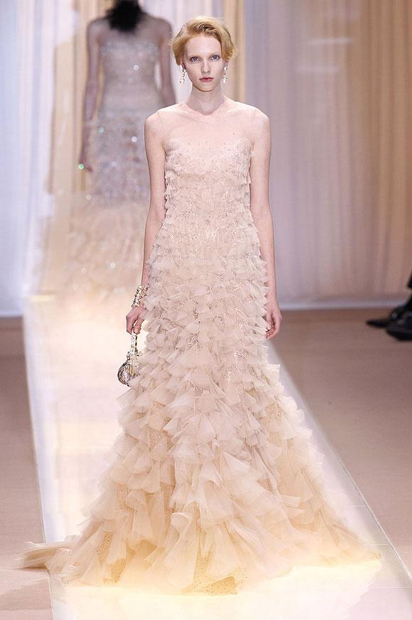 Runway report brides of haute couture a w 2013 nick for Giorgio armani wedding dress