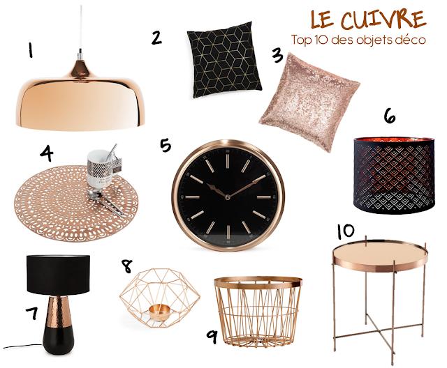 Le cuivre top 10 des objets deco for Decoration interieur objet