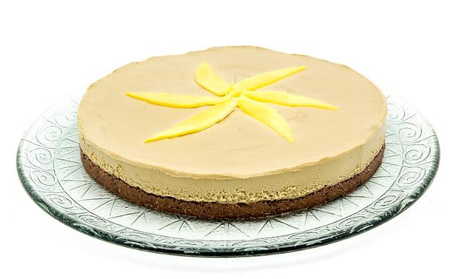 Raw mango cake recipe shot for blog