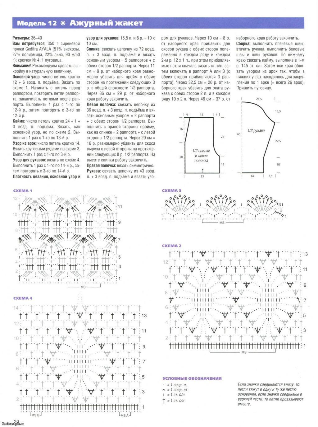 Вязание красивых кофточек для женщин крючком