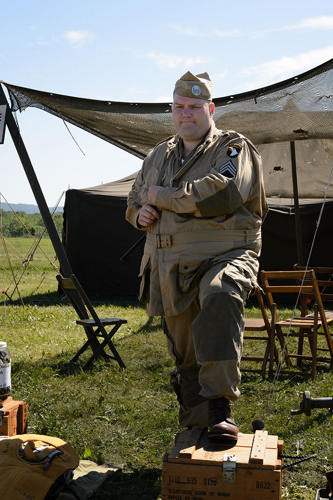 Reenactor at WWII Weekend