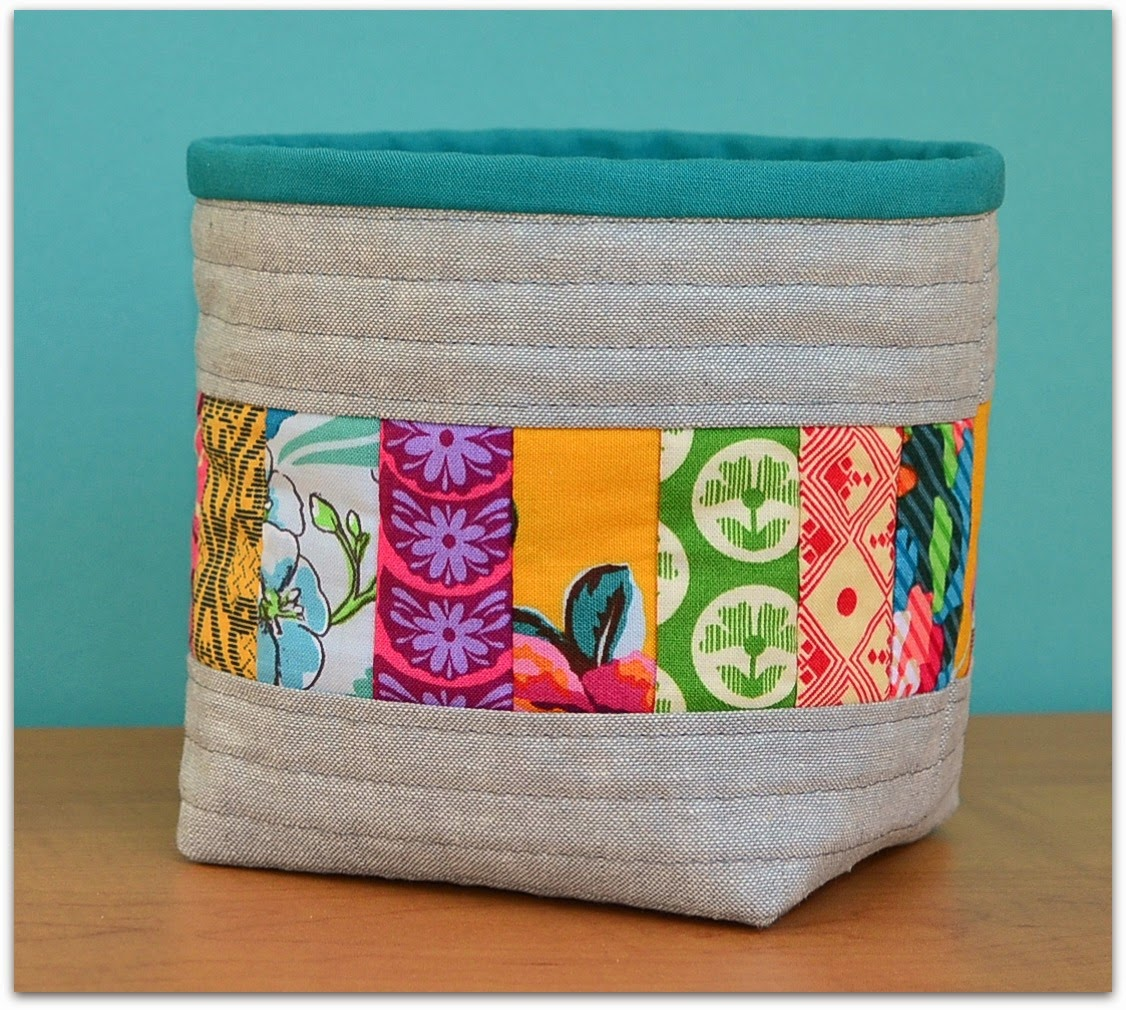 tutorial quilt as you go mini basket thread catcher the sewing chick