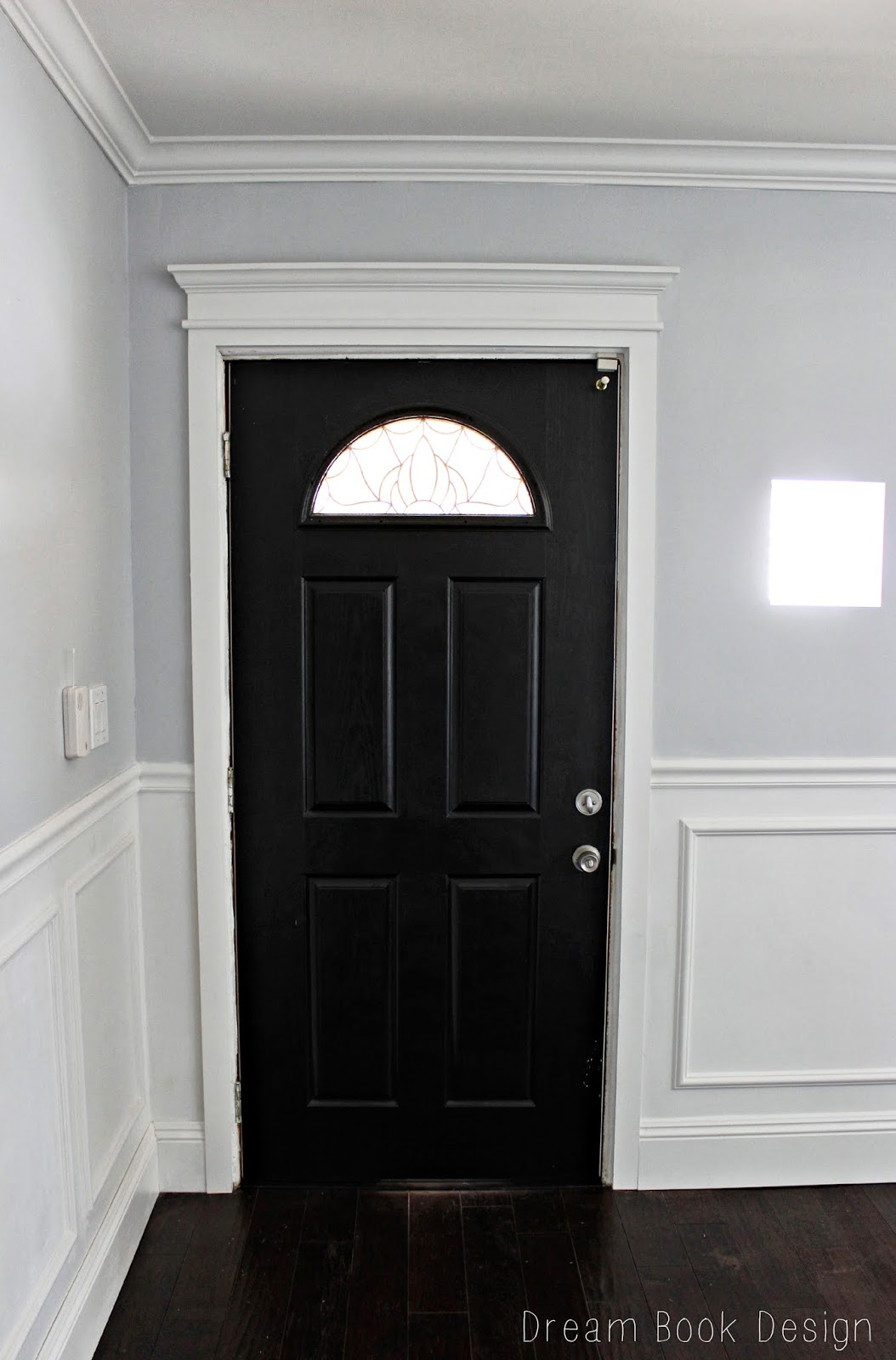 Our High Gloss Black Front Door Dream Book Design