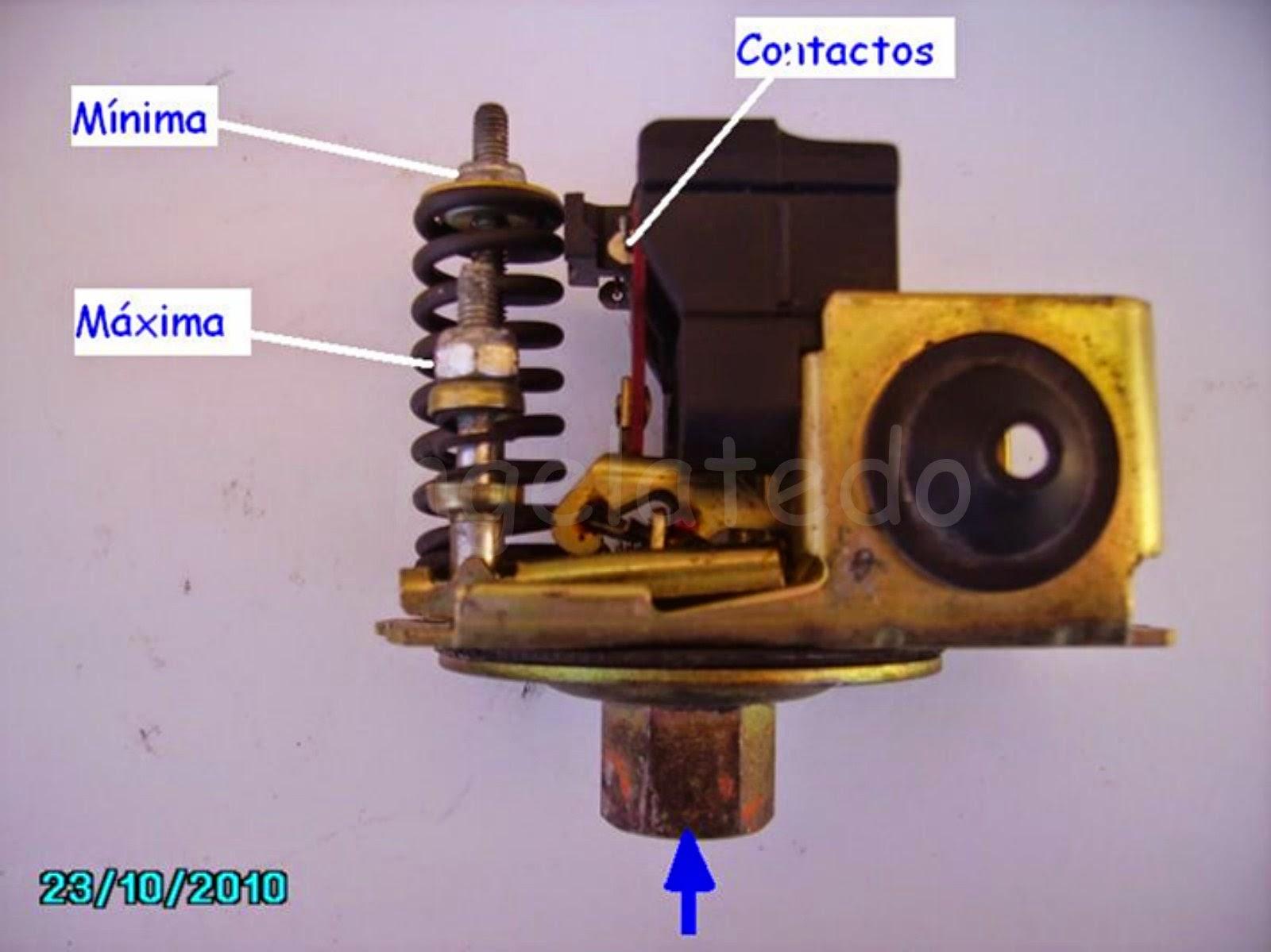 Hidrosfera o tanque hidroneum tico regulaci n de presi n for Presostato bomba agua