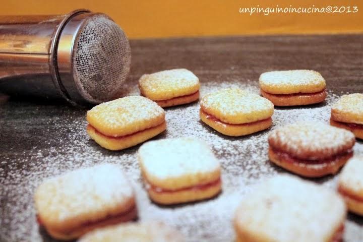 biscottini ai marron glacé con marmellata di arance
