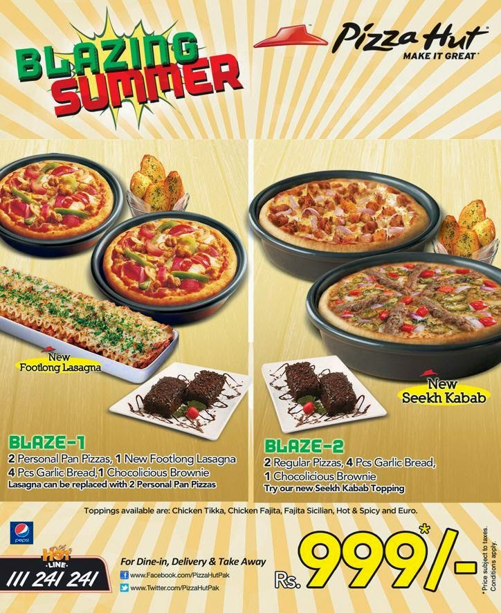 Pizza Hut | Blazing Summer Offer for Everyone in Pakistan