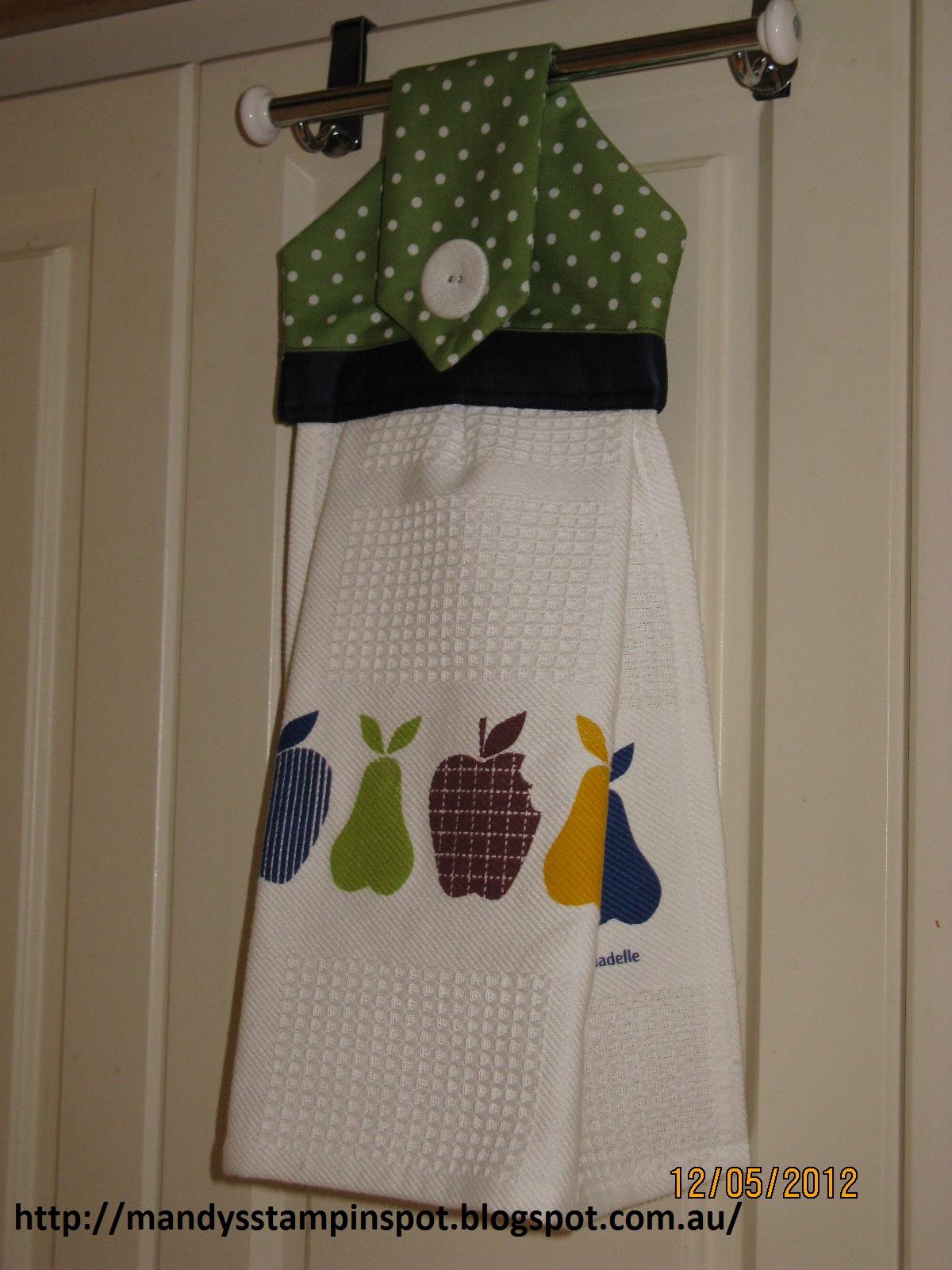 Kitchen Towel Hanging Mandys Stampin Spot Sewing Hanging Hand Towel
