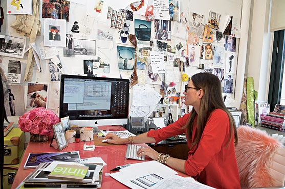 Little bits of lovely wednesday workspace jenna lyons for Office design publications