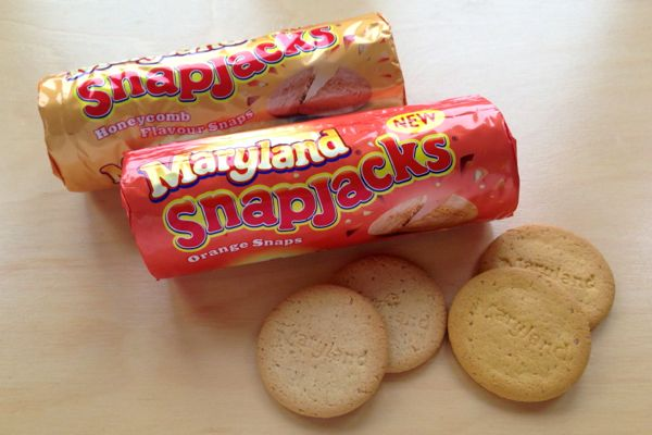 Burtons Maryland Snapjacks Biscuits are vegan