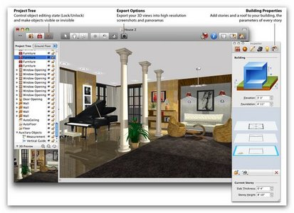 Mac os x programs Professional interior design software