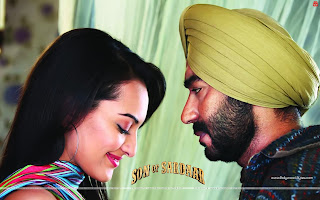 Son Of Sardaar Hot wallpaper Ajay Devgn and Sonakshi Sinha
