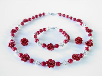 biżuteria góralska ślubna, Ekokoral,naszyjnik z korala, koral korale czerwone koral czerwony