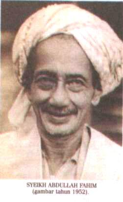 ABDULLAH bin Ibrahim bin Tahir dipanggil dengan nama Haji Abdullah Pak