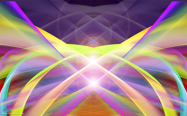 Colorful abstract wallpaper with lines and lights