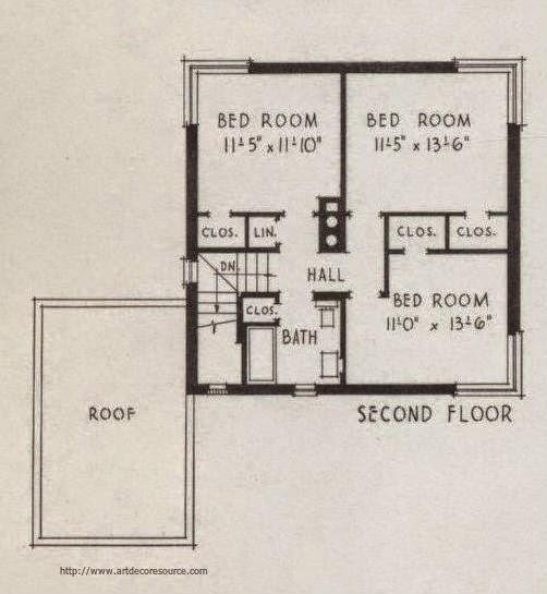 Even more firesafe art deco and art moderne house plans for Art deco house plans