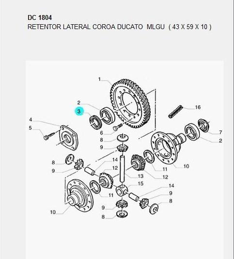 Jancap, retentores, engrenagens e correia da Ducato 8