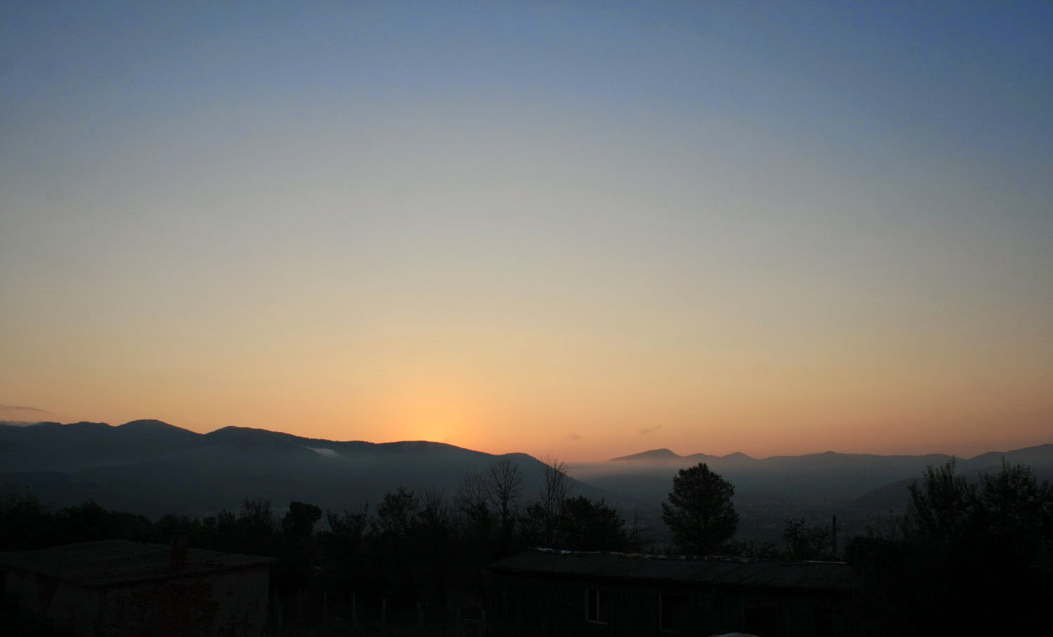 Just before the sun came up, from the balcony