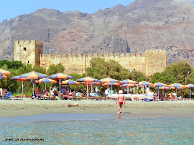 Frangokastello fortress beach