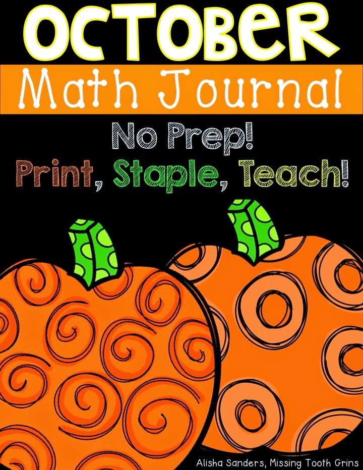 http://www.teacherspayteachers.com/Product/October-Math-Journal-No-Prep-1468419