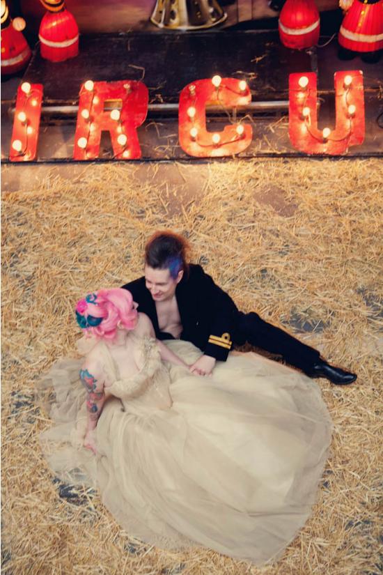 Vintage circus wedding reception, ricevimento di matrimonio a tema circo