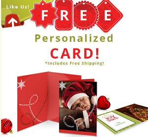 Free Personalized Elephoto Holiday Card