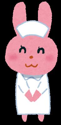 ウサギの看護婦のイラスト