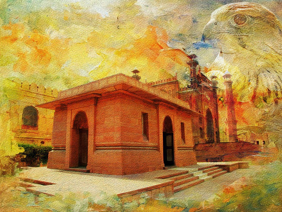 Allama Iqbal Tomb Painting