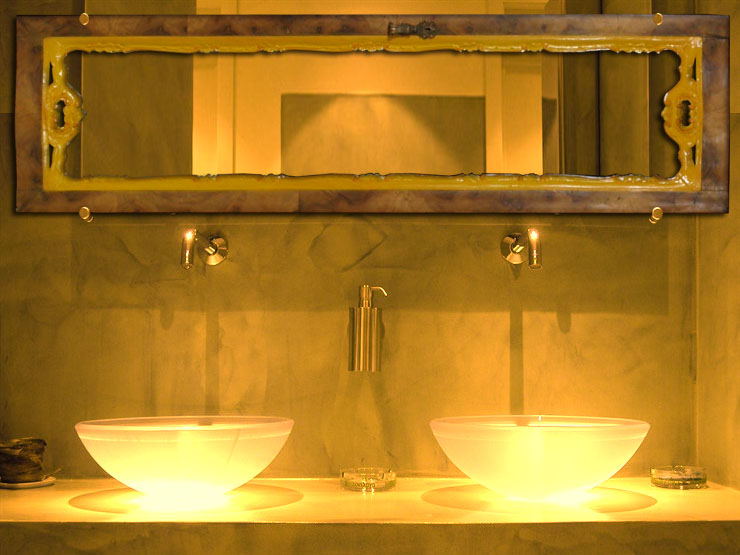 Specchio specchiera bagno barocco anta design myArtistic