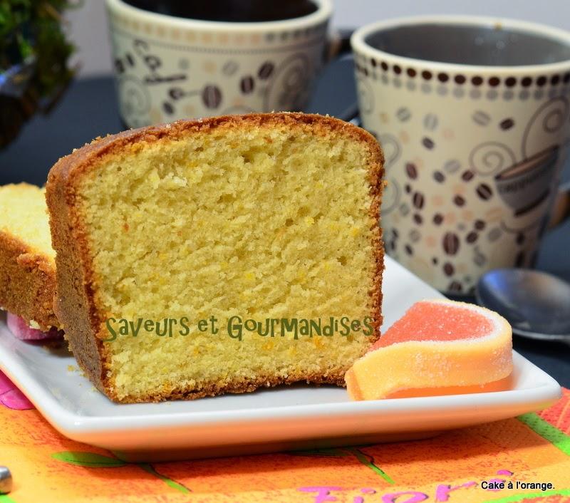 Cake à l'Orange de Sophie Dudemaine.