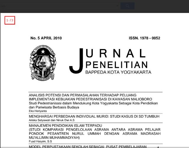 Jurnal Penelitian BAPPEDA Kota Yogyakarta