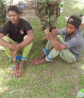 Captured foreign mercenaries