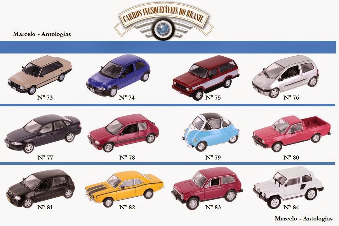 Marcelo antologias cole o carros inesquec veis do brasil lista de miniaturas expandida
