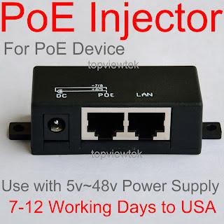 PoE Splitter, PoE Injector, 2port RJ45, 1port DC 5.5mm*2.1mm input