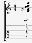 E7#5#9 guitar chord