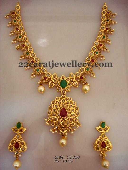 medium size pachi necklace 90gms   jewellery designs