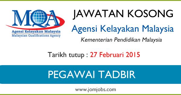 Jawatan Kosong Agensi Kelayakan Malaysia (MQA) 2015 Terkini