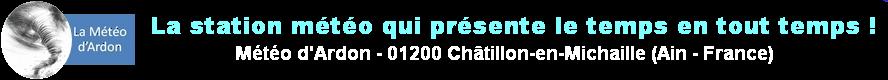 La Météo d'Ardon (01200)