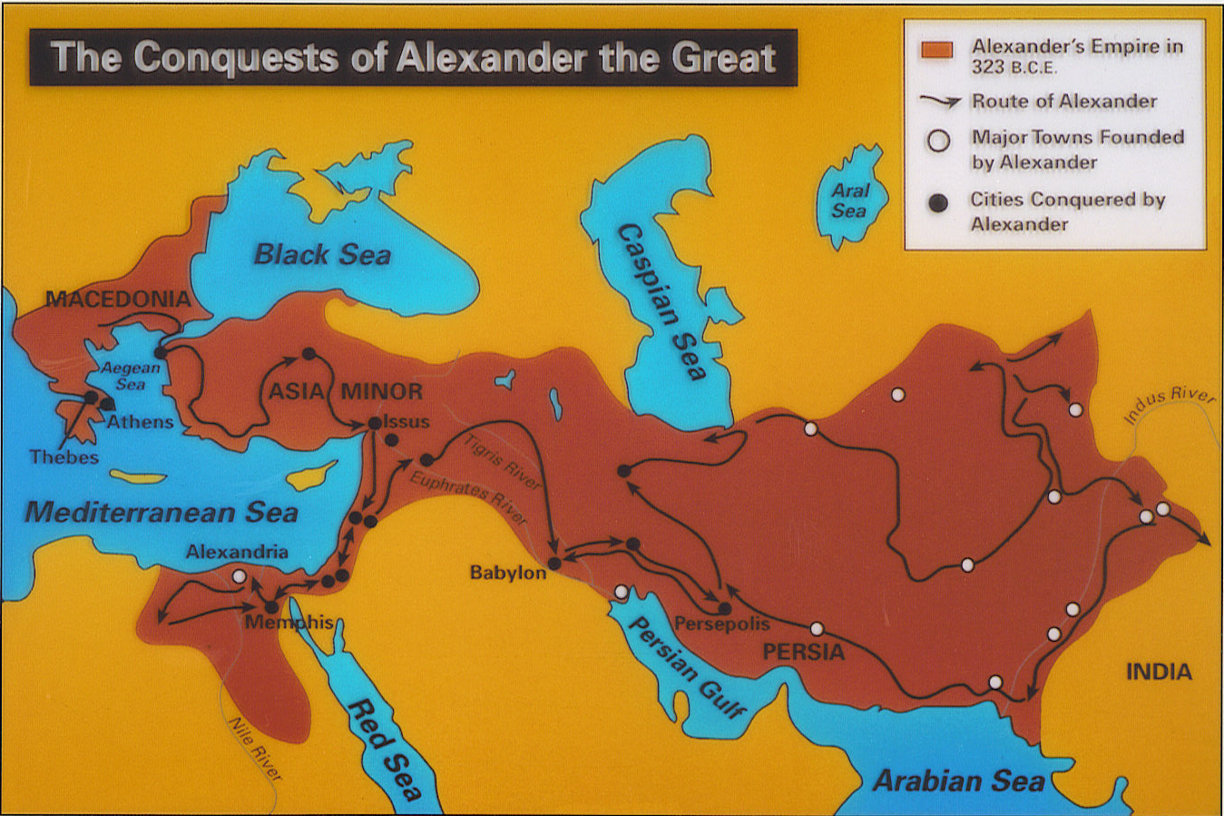 alexander the great conquered what countries