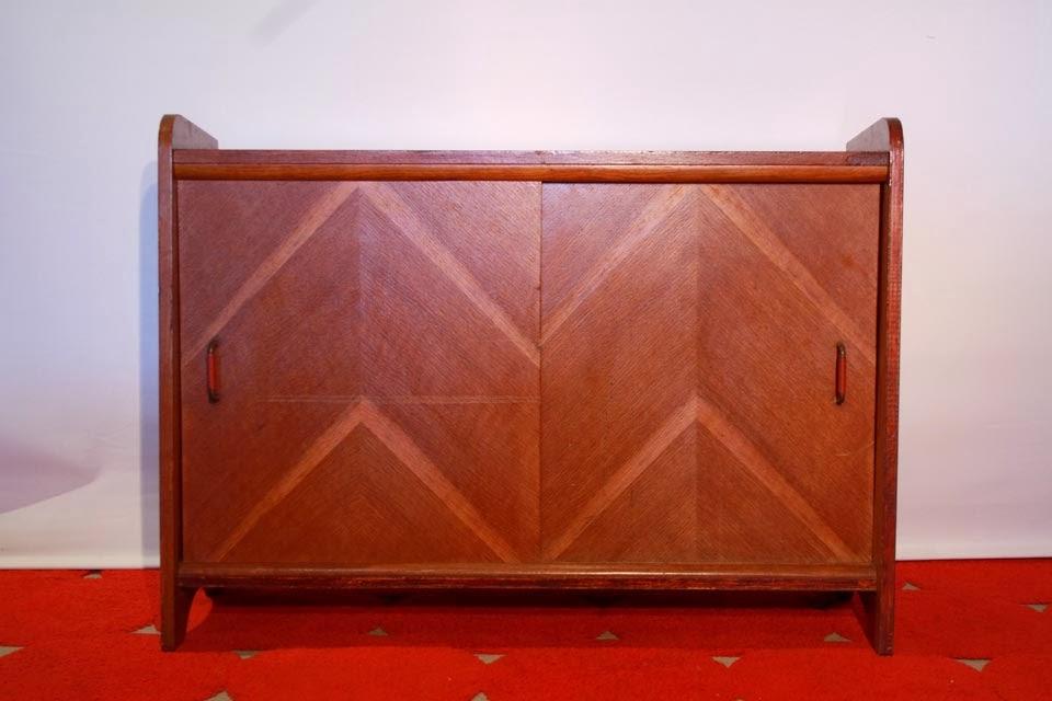 Chicbaazar objets vintage 50 60 70 meuble de rangement - Meuble rangement portes coulissantes ...