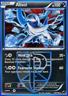Absol Plasma Freeze Pokemon Card
