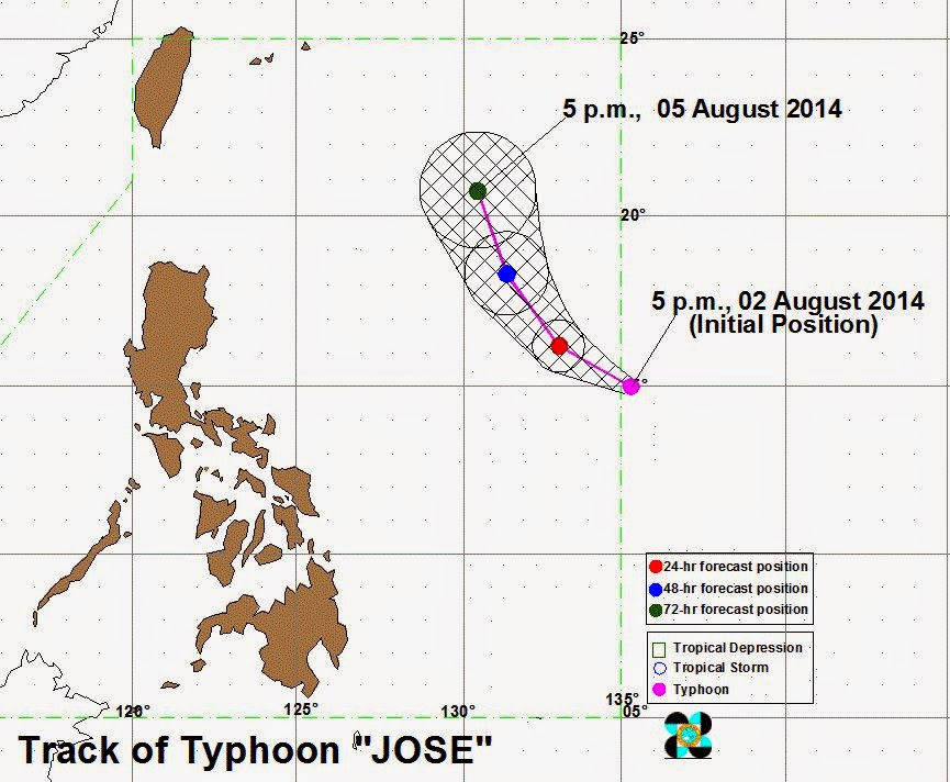 'Bagyong Jose' enters PAR - PAGASA weather update (August 2, 2014)