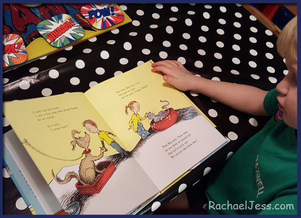 Reading the brand new Dr. Seuss book - what pet should I get?