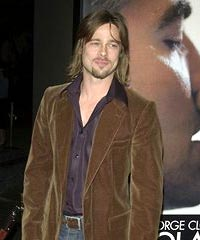 Men Long hairstyle ideas - Brad Pitt Wavy Long Hairstyle