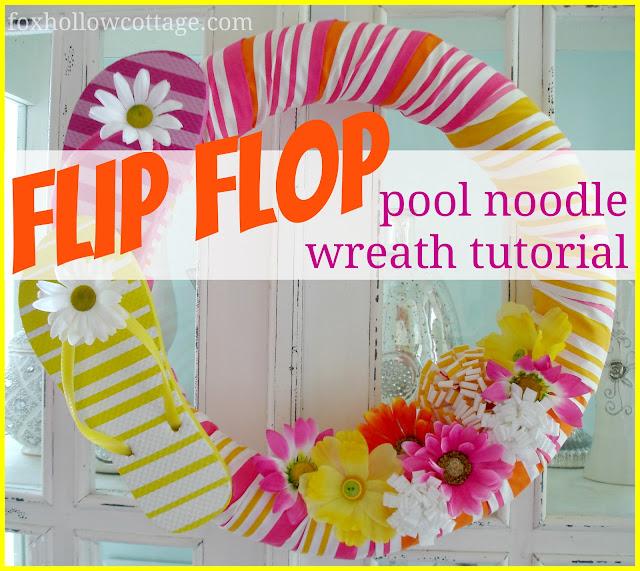 Pool Noodle & Flip Flops Wreath
