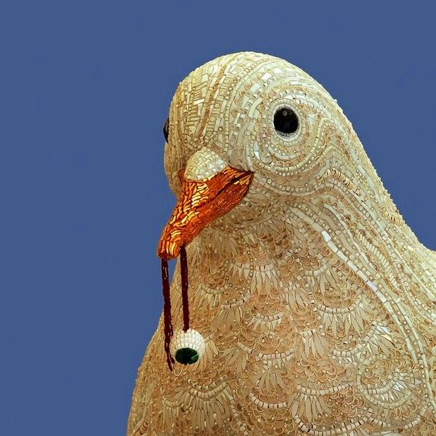 mosaic bird sculptures dusciana bravura-4
