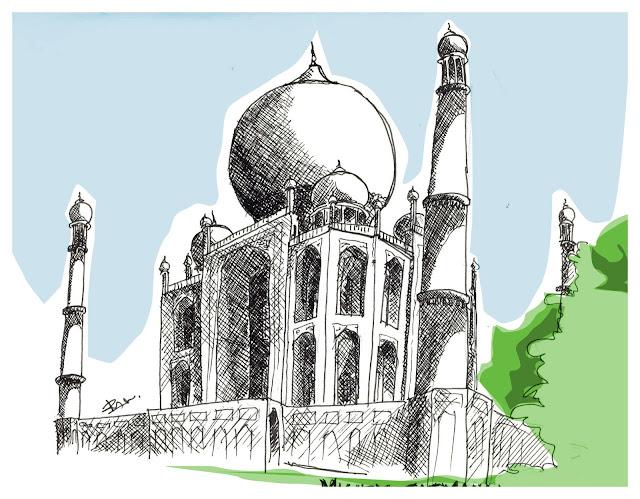Taj Mahal Sketch