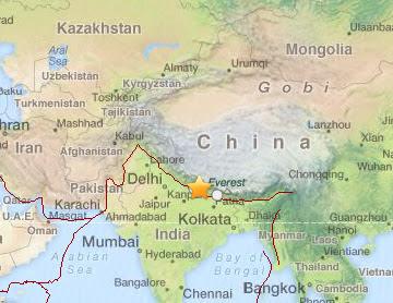 Un sismo de 5,5 grados de magnitud en la escala de Richter sacudió Nepal, 28 de Junio 2013