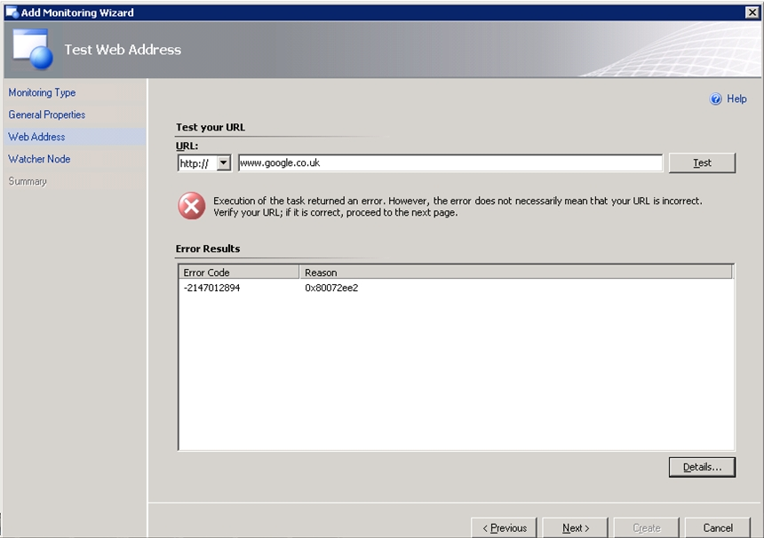 Sys-Admin Blog: SCOM Web Application Monitoring - The URL probe ...